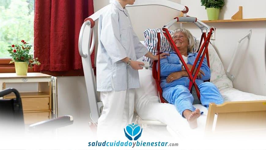 El uso de la grua en mayores y personas dependientes