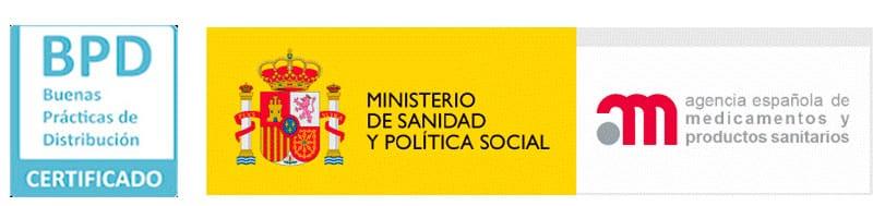Agencia Española de Medicamentos y Productos Sanitarios - certificación de BPD (Buenas Prácticas de Distribución Farmacéutica).