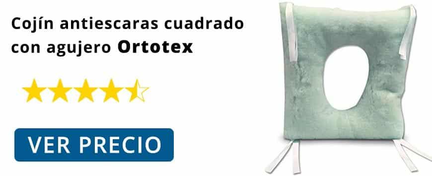 Ver precio e información Cojín antiescaras cuadrado con agujero Ortotex