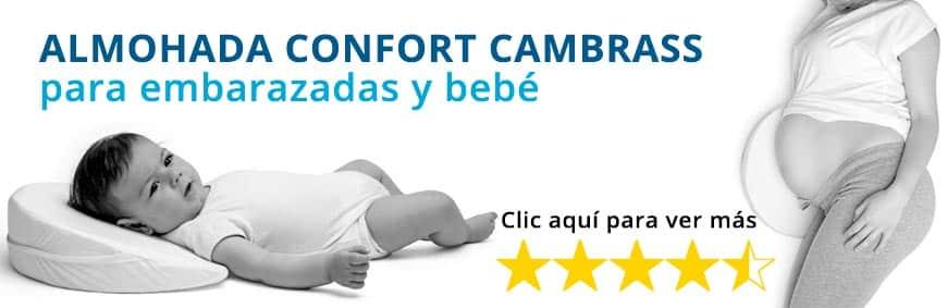 Almohada confort Cambrass para embarazada y bebé