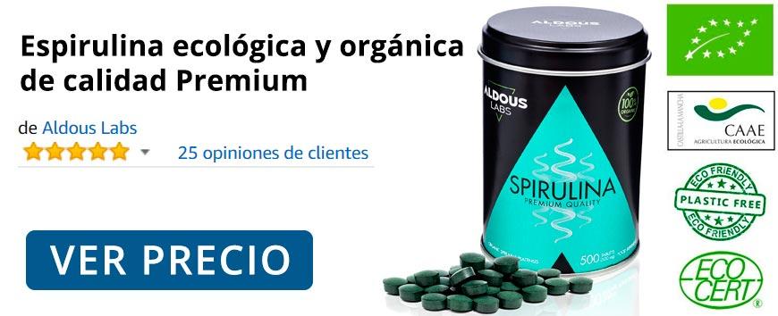 Espirulina ecológica y orgánica de calidad Premium