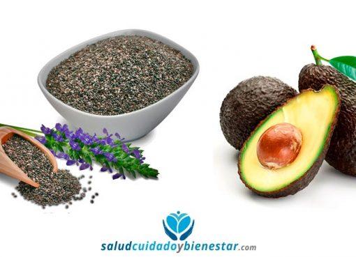 alimentos para mejorar nuestro bienestar personal: aguacate, quinoa, frutos rojos, semillas de chia...