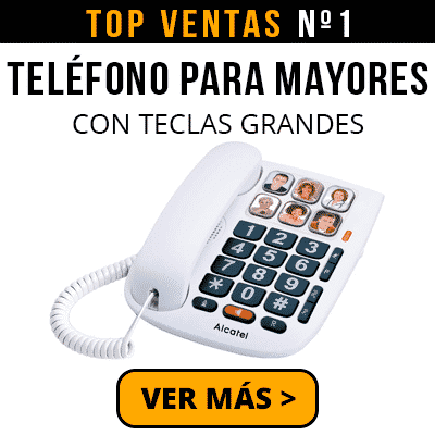 Télefono para mayores con teclas grandes