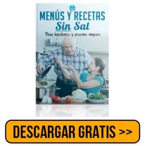 Descargar gratis MENÚS Y RECETAS SIN SAL